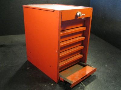 used snap on side cabinet locker tool box 5 drawers red lockable kr278d ebay. Black Bedroom Furniture Sets. Home Design Ideas