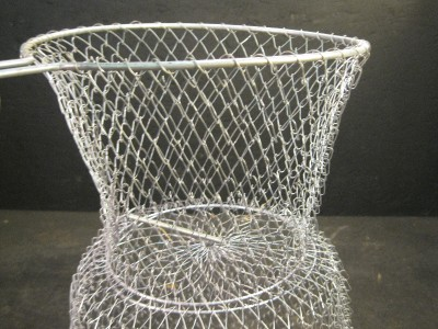 Live fish basket wire holder fisher marine boat water for Fish wire basket
