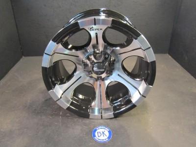 "Dick Cepek 15"" x 8"" Wheel Black Alloy Jeep TJ YJ Wheels Set Rims Rim 15"" DC 2"