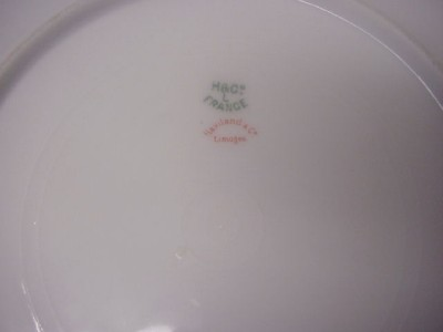HAVILAND LIMOGES DINNER PLATE H & CO. L FRANCE 1888