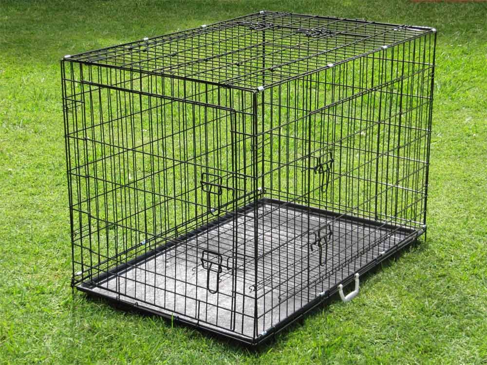 Pet Puppy Playpen Dog Kennel - Collapsible Folding Portable Pets Play Pen - Dog Kennels and Crates Enclosures For Small Medium Large Dogs - Indoor and Outdoor Use.