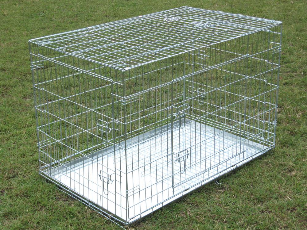 54 Quot Collapsible Metal Super Multi Door Pet Dog Puppy Cage