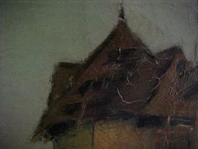 George Henry Bogert Oil Painting Windmill Scene 20X24