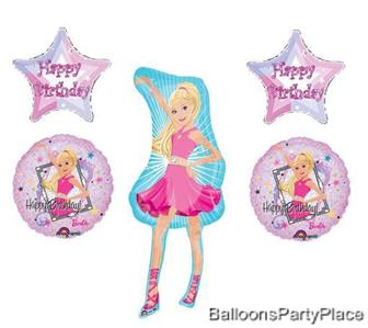 BARBIE birthday girl balloons party kit 5 decorations  eBay