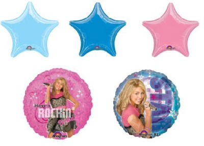 Hannah Montana Balloons Party Supplies 5 Birthday Mylar