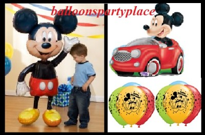 Mickey Mouse Airwalker Latex Balloons Disney Black Red Party Supplies Birthday