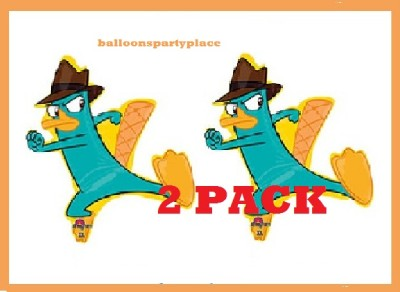 2 Pack Phineas and Ferb Agent Perry Balloons Party Supply Birthday Decorations