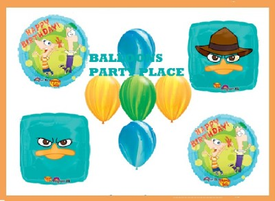 Phineas and Ferb Agent Perry Balloons Party Supply Birthday Decorations Latex