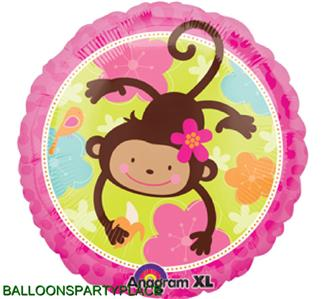 Balloons birthday party baby shower supplies decorations monkey jungle girls xl ebay - Monkey balloons for baby shower ...