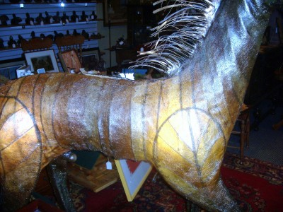 Horse Life Size Sculpture Metal and Paper Mache