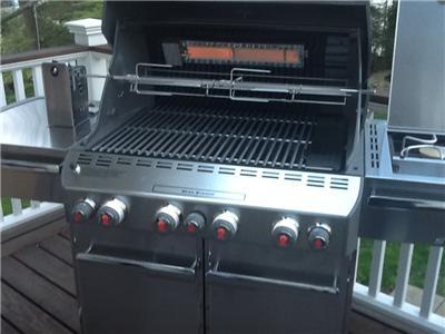 2012 weber summit e 470 natural gas black grill 7271001 ebay. Black Bedroom Furniture Sets. Home Design Ideas
