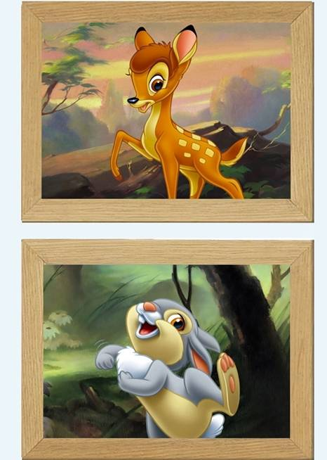 disney bambi thumper rabbit picture poster print bedroom