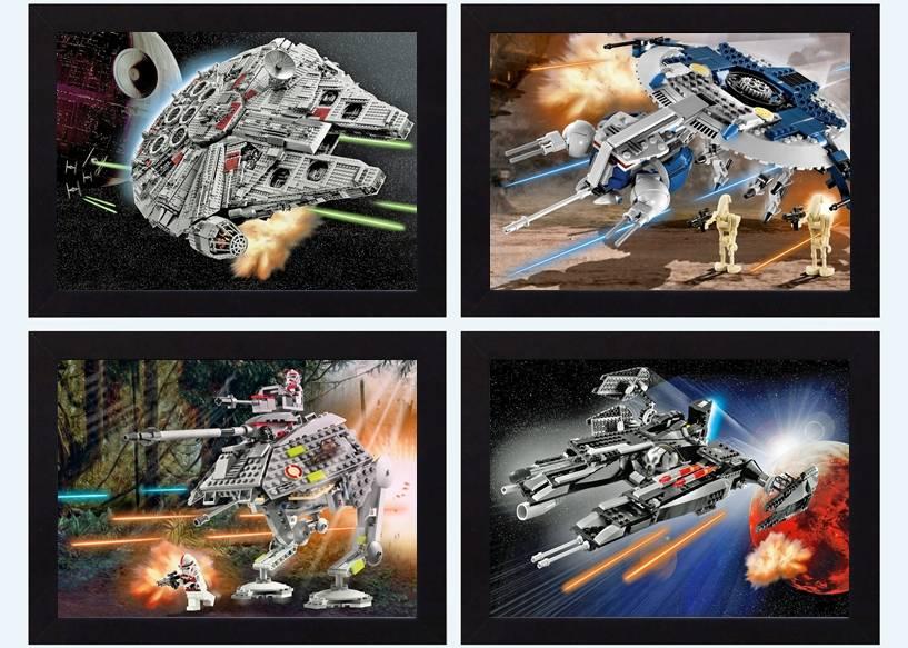 star wars starwars lego picture print poster bedroom movie. Black Bedroom Furniture Sets. Home Design Ideas