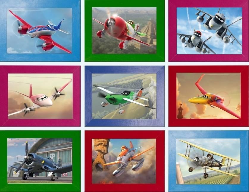Disney Planes Picture Poster Dusty Bravo Echo A4