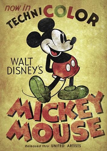 Disney-Mickey-Mouse-Retro-Poster-Photo-Print-Photo-Wall-Art-Decor-Cadeau-Chambre