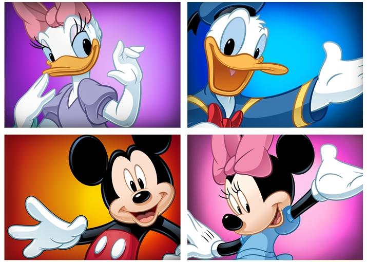Disney-Mickey-Mouse-Minnie-Dingo-Pluto-Poster-Photo-Print-Photo-Wall-Decor