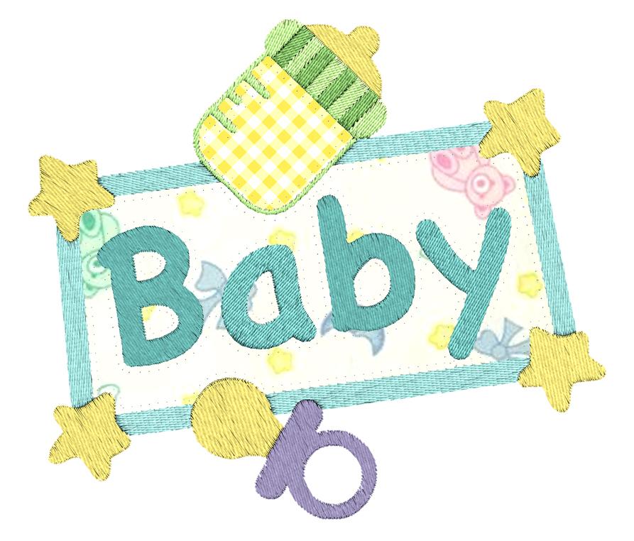 Baby applique machine embroidery designs ebay