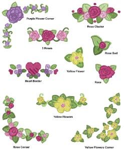 Pretty flower borders machine embroidery designs mightylinksfo