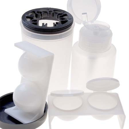 KT152 Pump Dispenser Brush Bottle Liquid Dappen Case