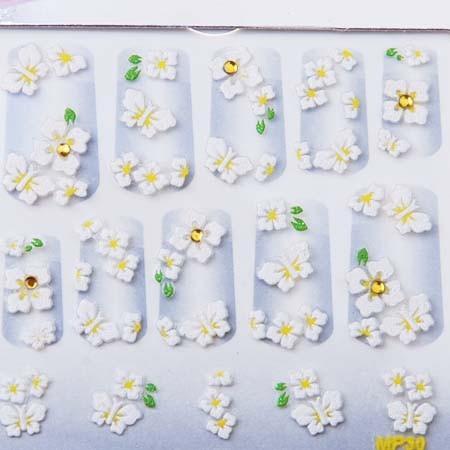 KT397 Wholesale Professional 3D Nail Art Stickers x 15