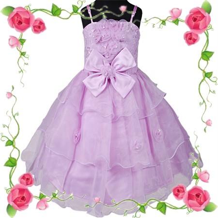 d192 lila blumenm dchen kleid hochzeit festzug festkleid. Black Bedroom Furniture Sets. Home Design Ideas