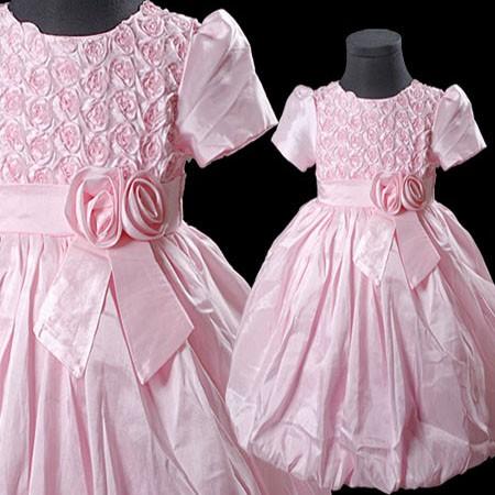Rosa blumenm dchen hochzeit wedding festkleid blumenkinder f r m dchen kleider ebay - Blumenkinder kleider hochzeit ...