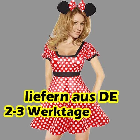mickey maus kost m mini damen karneval fasching kost mparty set m useohren. Black Bedroom Furniture Sets. Home Design Ideas