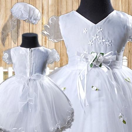 R016-17-taufkleid-Blumenkindkleid-Kleid-Festkleid-Traumkleid-Hut-Gr-80