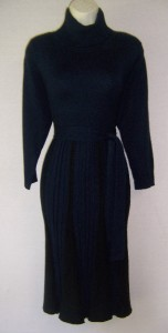 JESSICA HOWARD Black/Brown Long Sleeve Turtle Neck Sweater Dress XL 16