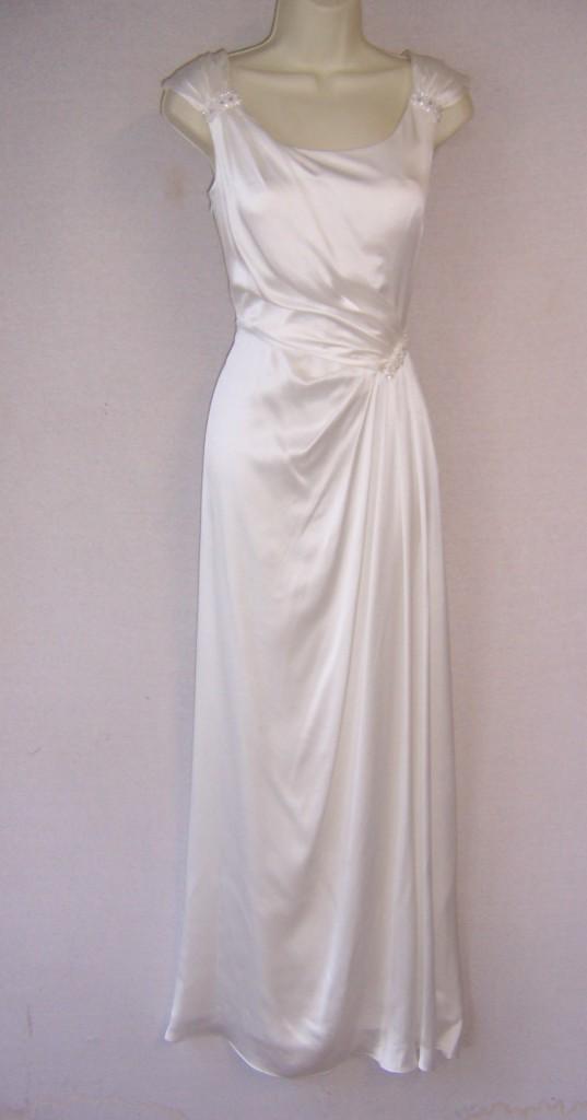 Ivory white designer cocktail formal beach 2nd wedding for 2nd hand designer wedding dresses