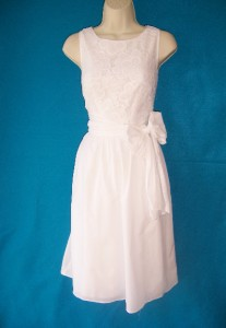 ADRIANNA PAPELL White Crochet Lace Sleeveless Casual Cocktail Dress 12