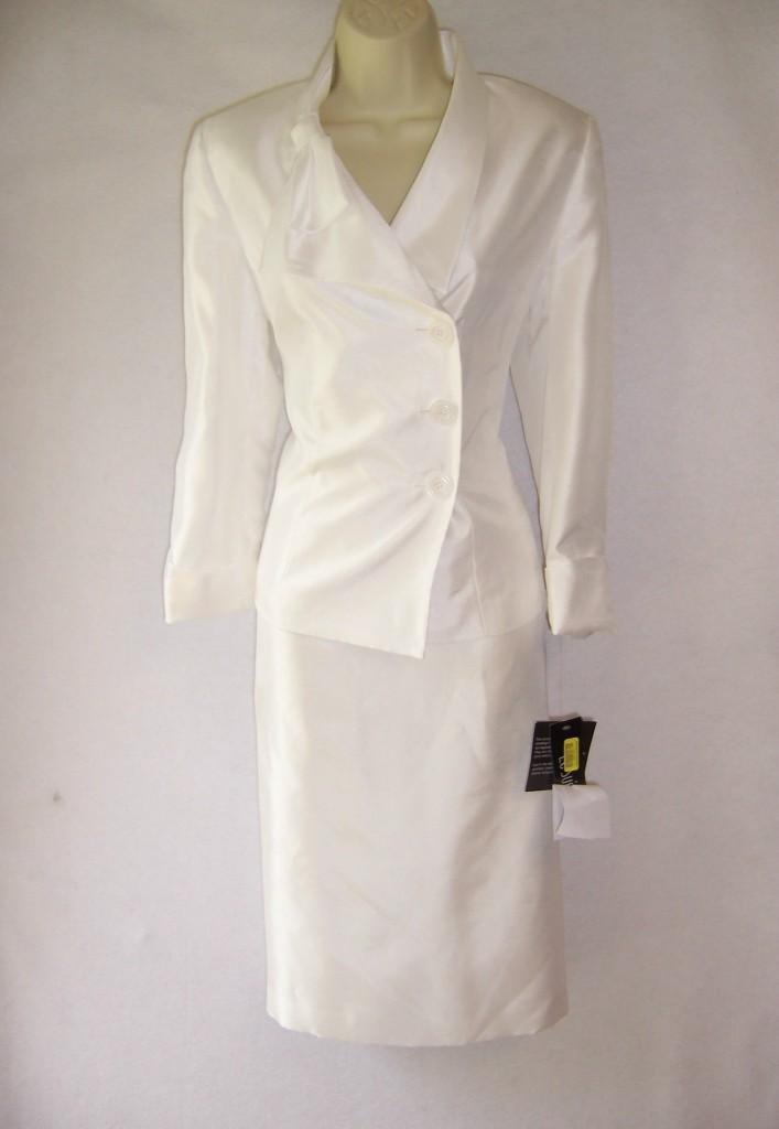 Spring Summer Mother Of Bride Career Wedding Jacket Skirt Cocktail Dress SUIT