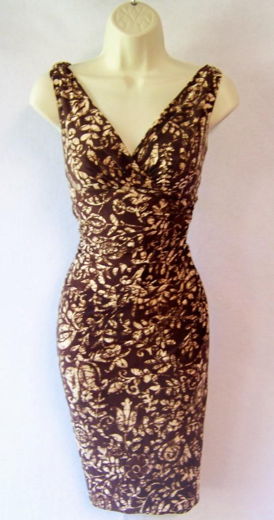 Ralph-Lauren-Jersey-Stretch-Solid-Print-Cocktail-Versitile-Dress-NEW