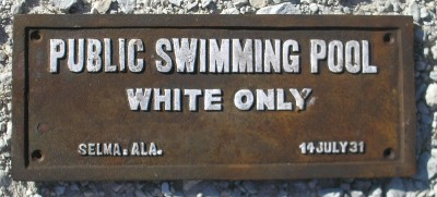 Cast Iron Swimming Pool White Only Black Americana Segregation Sign Free Ship