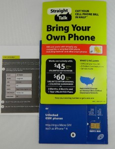 Straight Talk at T Micro Sim Card Activation Kit for Galaxy 3 iPhone 4