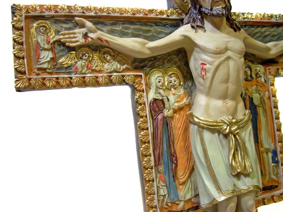 Details about new san damiano standing cross st damian crucifix of st