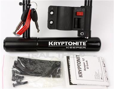 kryptonite keeper 12 ls long 11 x 4 bike u lock w side mount bra. Black Bedroom Furniture Sets. Home Design Ideas