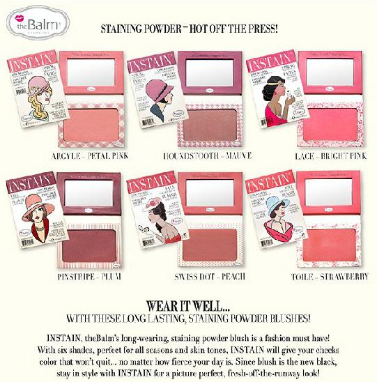 theBalm INSTAIN LONG-LASTING STAINING BLUSHES, CHOOSE COLOR in Health & Beauty, Other | eBay
