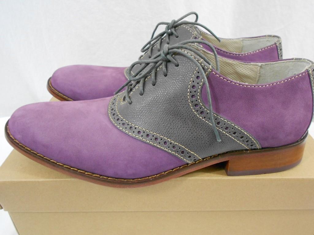 cole haan air colton saddle mens oxford dress shoe grape
