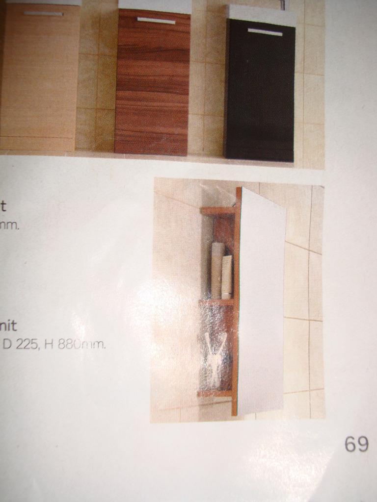 homebase walnut mirror with storage shelves bnib bathroom. Black Bedroom Furniture Sets. Home Design Ideas