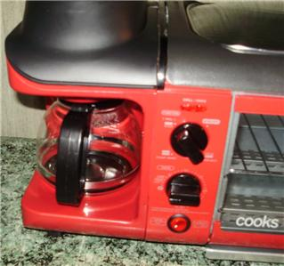 Cooks Coffee Maker Red : Cooks 3 In 1 Cooking Center W/4 Cup Coffee Maker Red By JC Penny EC eBay