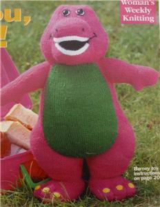 Barney Dinosaur Knitting Pattern : Alan Dart Barney Dinosaur Toy & Sweater Knitting Pattern eBay