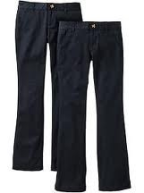 lot Old Navy Girl Navy Uniform Pants 12 plus NWT