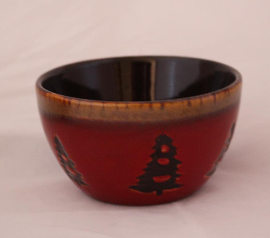 Home Studio Woodland Fruit Dessert Bowls Red Tree Creme