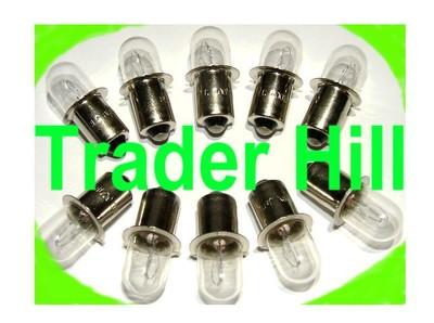 10 Xenon Xpr 18v Flashlight Bulb For Dewalt Dw9083 Hitachi