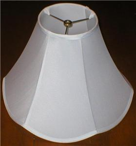 lamp shade white linen cloth diameter 15 inches. Black Bedroom Furniture Sets. Home Design Ideas