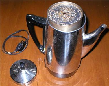 Electric Percolator/Coffee Maker-Stainless, 12-Cup, 800W, Presto Model# 0281105 eBay