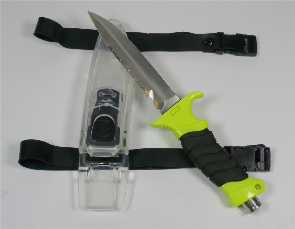 Scuba-Diving-Snorkelling-Knife-with-Visable-Sheath