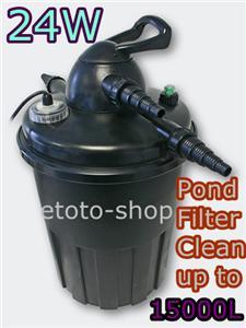 Jebao auto clean ecf 15000 24w uv pond filter 15000l pond for Uv pond cleaner