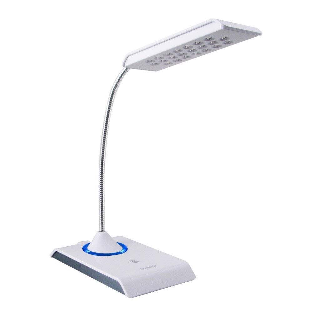 Desk Lamp With Dimmer : Daffodil lec w usb reading light led desk lamp with
